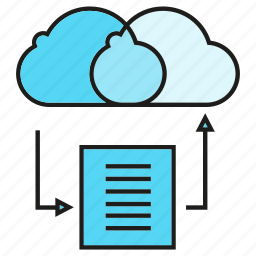 cloud, cloud computing, document, network, server, share icon
