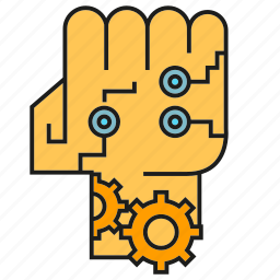 ai, android, cyber, humanoid, robot, robotic arm, robotic hand icon