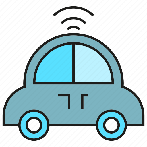 automation, car, self driving car, smart car, vehicle icon
