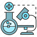 biotech, chemistry, flask, lab, microscope, tube icon