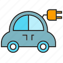 car, charge, eco car, electric car, plug, vehicle icon