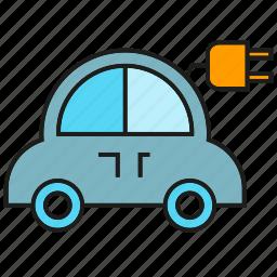 car, charge, eco car, electric car, plug, vehicle icon