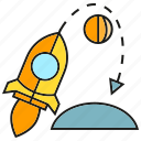 astronomy, launch, reusable rocket, rocket, spaceship icon