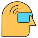 device, eyeglass, head, headset, virtual reality icon