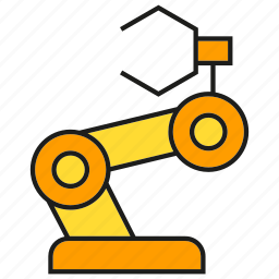 automation, control, machine, manufacturing, mechanical, robot, robotics icon