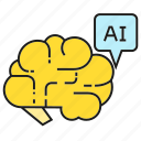 ai, artificial intelligence, brain, machine leaning, smart, think icon