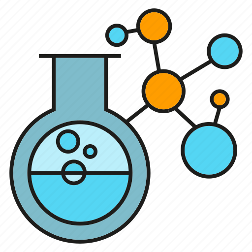 atom, chemistry, experiment, flask, lab, test, tube icon