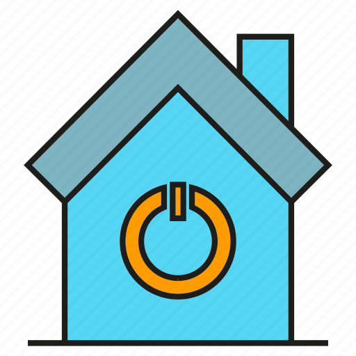 automation, house, smart home, start icon