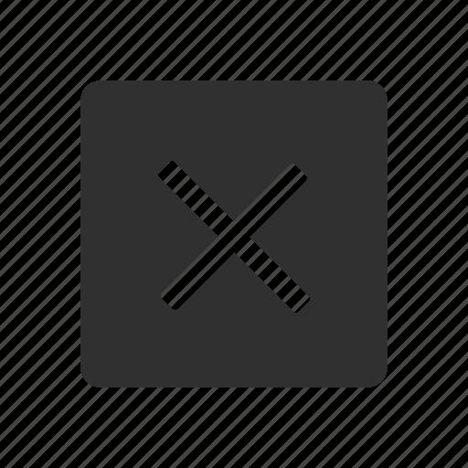 delete, delete button, remove, wrong icon