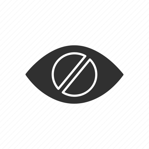 bilnd, eye slash, hidden, hide icon