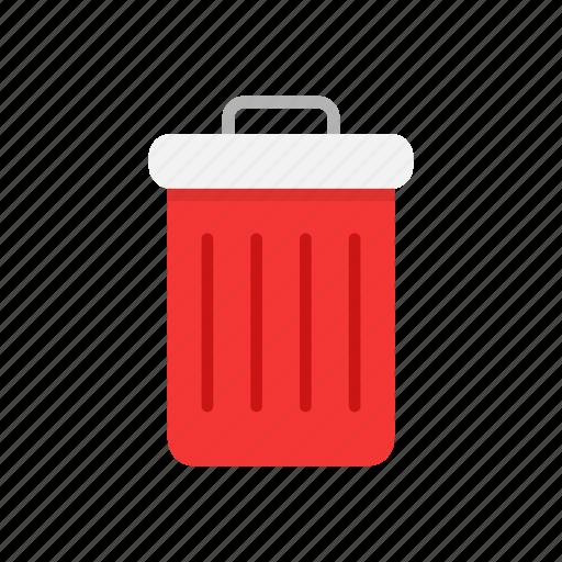 delete, remove, trash, trash bin icon