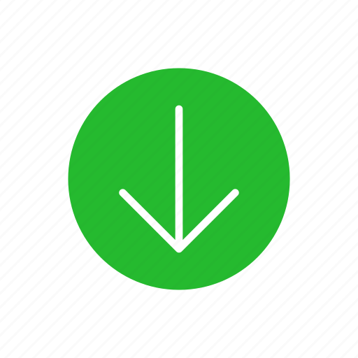 arrow down, down, download, pointer icon