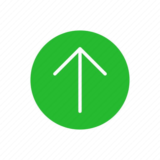 arrow, arrow up, pointer, upload icon