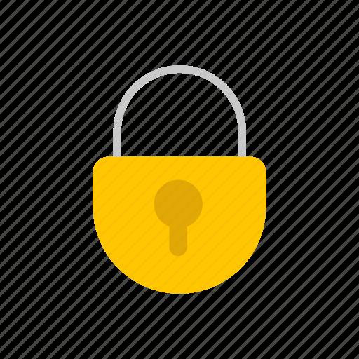 close, locked, padlock, security icon