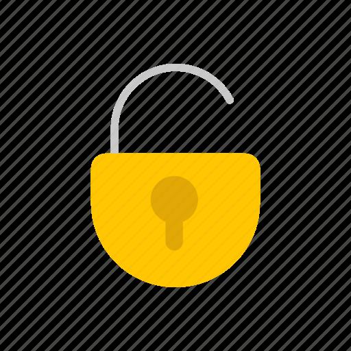 open, padlock, security, unlock icon