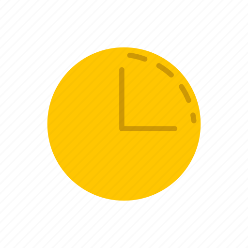 circle, clock, right angle, time icon