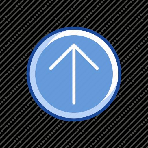 arrow, arrow up, pointer, upload icon