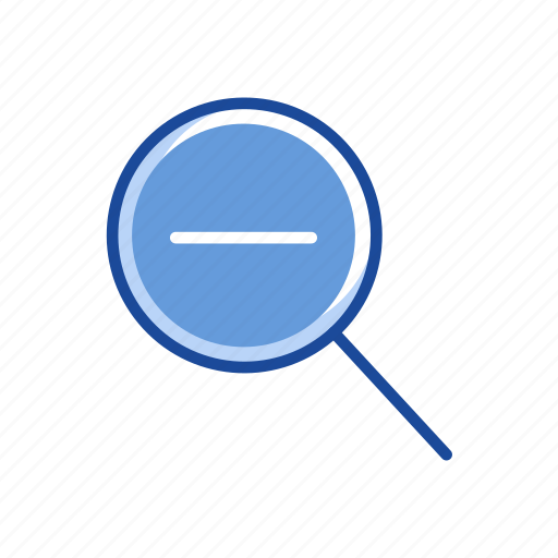 browse, magnifying glass, minus, zoom out icon