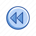 arrow, arrow left, back button, backward, pointer icon