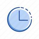 circle, clock, three 0' clock, time icon