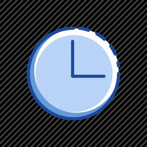 circle, clock, three 0' clock, time icon