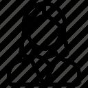 female avatar, female person, human, person icon