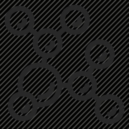 Atom, bio, biomolecule, chemistry, corpuscle, electron, molecule icon - Download on Iconfinder