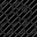 biochemistry, chemical, dna, microscopic, molecular, molecule, sieve icon