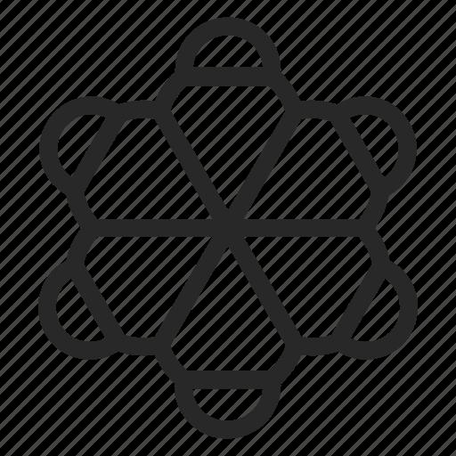 biology, chemical, hemispherical, model, molecule, nano, physics icon