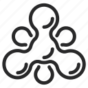 alprazolam, biomolecule, molecule, nitrogen, organic, oxygen, science icon