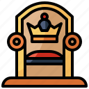 household, medieval, miscellaneous, furniture, monarchy, throne, aristocracy icon