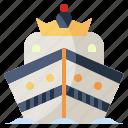 boat, cruise, royal, ship, ships, transportation, yacht icon