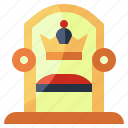 furniture, aristocracy, medieval, throne, miscellaneous, household, monarchy icon