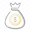 bag, coin, money, payment, shopping icon