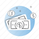 business, cash, dollar, finance, money icon