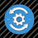 invest, profit, refund, return, revenue icon