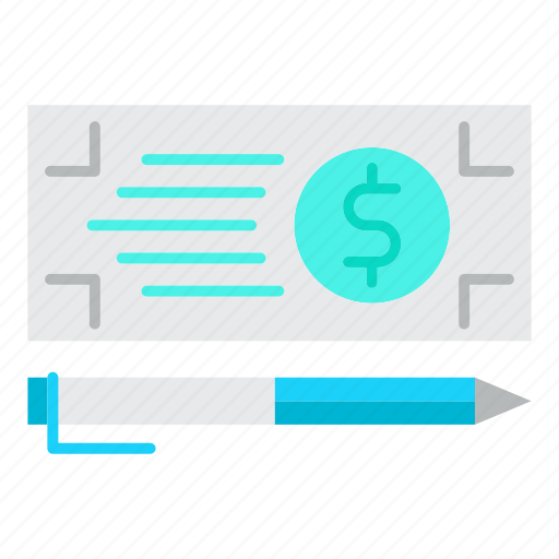 bank, check, finance, money, payment icon