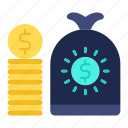 banking, cash, coin, currency, financial, money icon