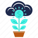 business, growth, investments, money, plant