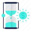 banking, clock, money, strategy, time icon