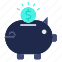 bank, banking, coin, money, piggy, savings icon