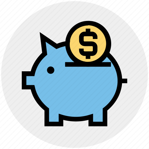 coin, finance, money, pig, piggy, piggy bank, saving icon