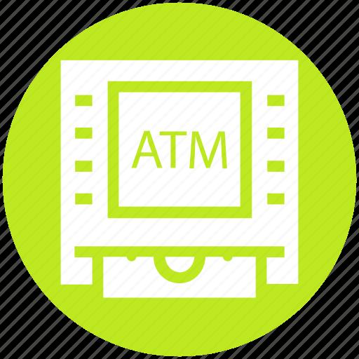 atm, bank, cash, device, dispenser, money, money machine icon