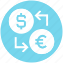 coin, currency, dollar, dollar and euro, euro, money, money convert