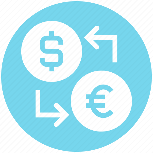 coin, currency, dollar, dollar and euro, euro, money, money convert icon