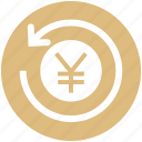financial, finance, yen, sync, refresh, coin, payment