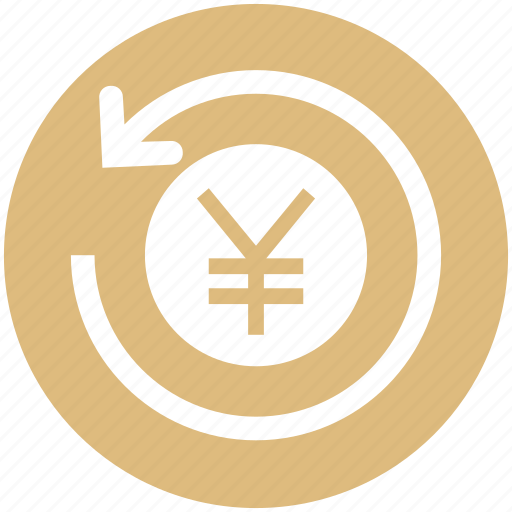 coin, finance, financial, payment, refresh, sync, yen icon