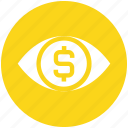 eye, finance, money, dollar, cash, currency, coin