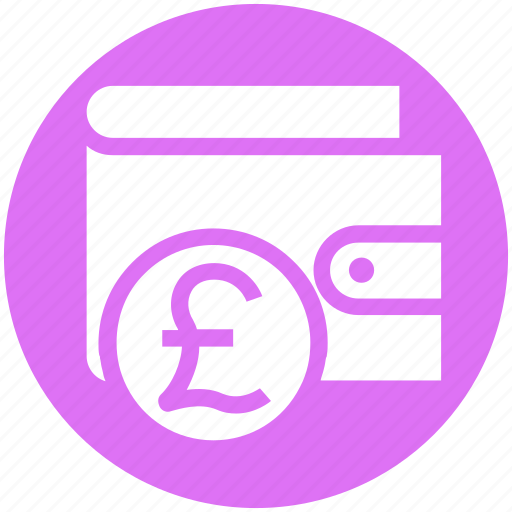 currency, ecommerce, money, payment, pound, sterling, wallet icon