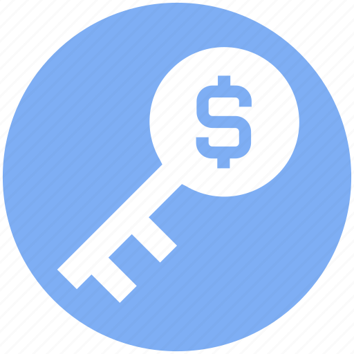 business key, dollar key, incentive, investment, lock key, protection, success key icon